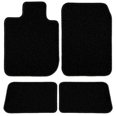 GMC Sierra 1500 Extended Cab Black Classic Carpet Car Mats/Floor Mats, Custom Fit for 2014-2019 (4-Piece)