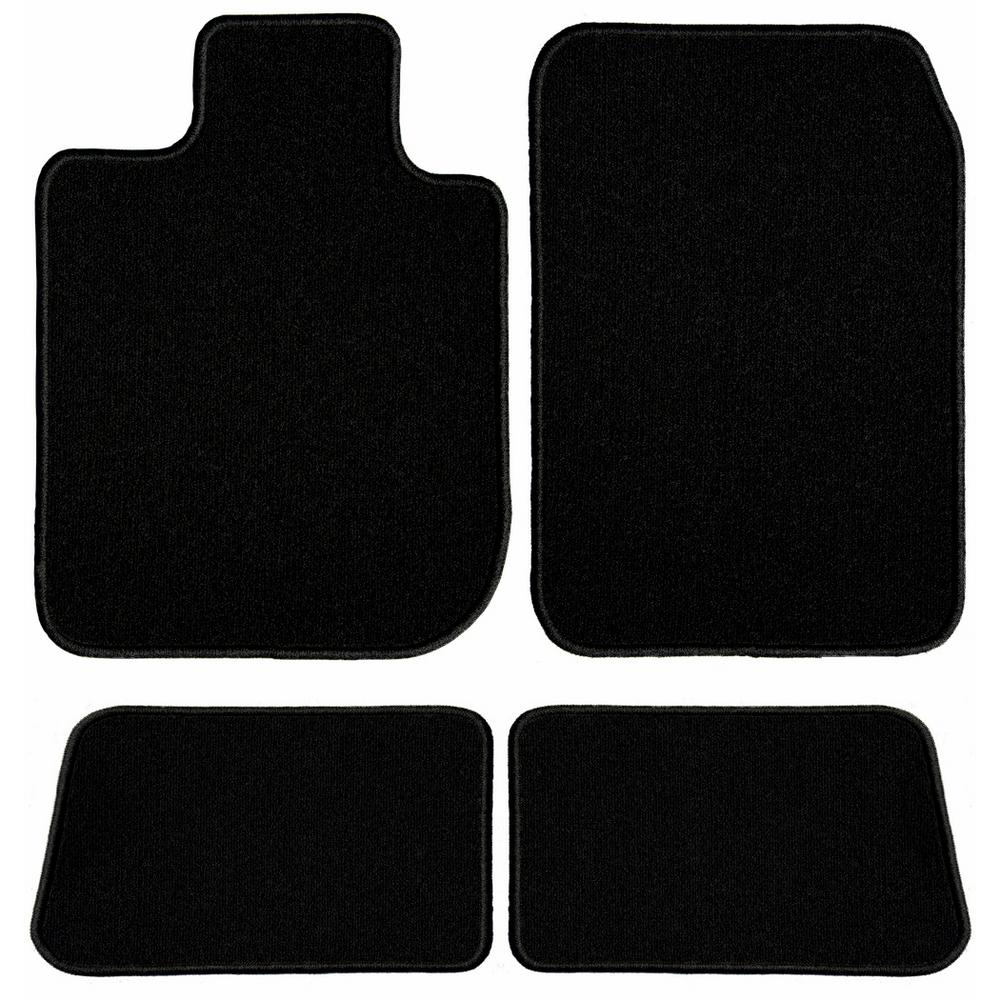 2006 Chevrolet Aveo Sedan Black with Red Edging Driver Passenger /& Rear Floor 2005 GGBAILEY D4869B-S2A-BLK/_BR Custom Fit Car Mats for 2004