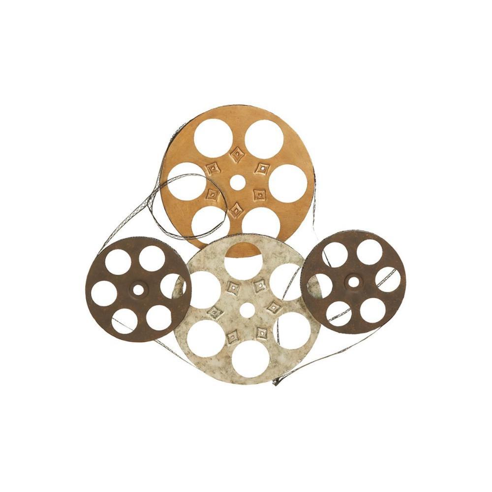 Metal Wall Decor Film Reels (Set of 4)