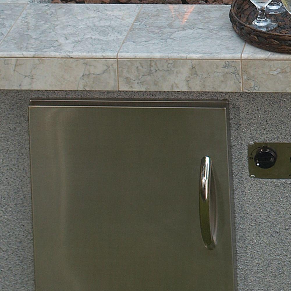 Cal Flame Outdoor Kitchen 27 in. Stainless Steel Horizontal Storage Door