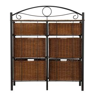 Fabulous Southern Enterprises Jerome 6 Drawer Iron And Wicker Storage Squirreltailoven Fun Painted Chair Ideas Images Squirreltailovenorg