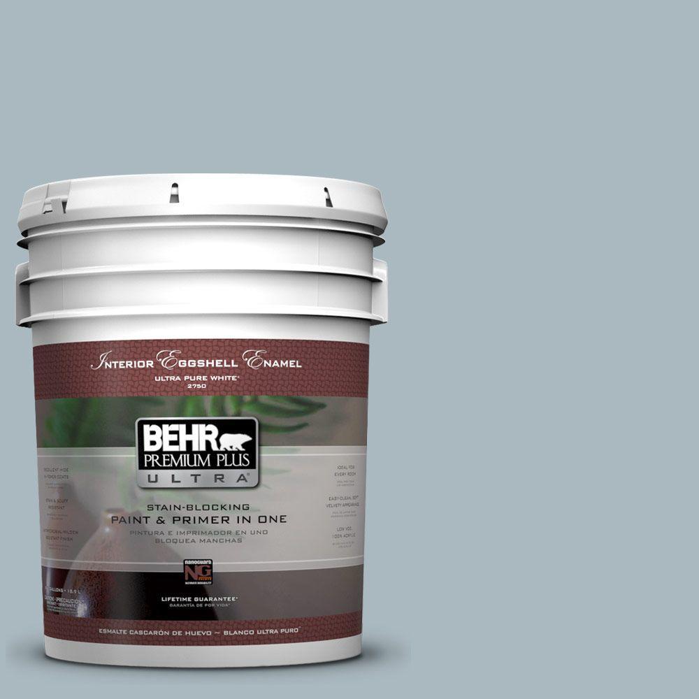 BEHR Premium Plus Ultra 5-gal. #740E-3 Prelude Eggshell Enamel Interior Paint