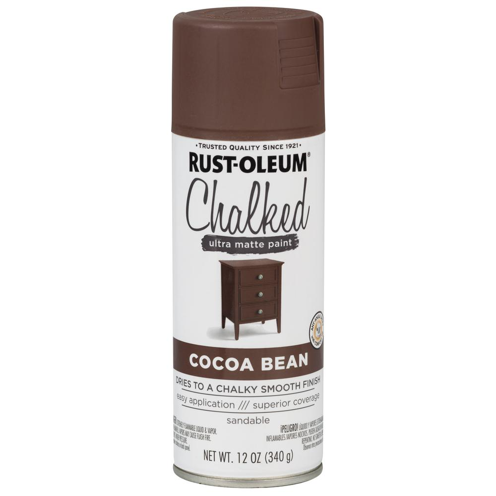 12 oz. Cocoa Bean Ultra Matte Interior Chalked Spray Paint (6