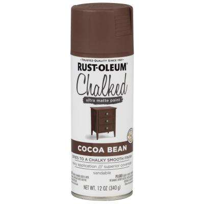 12 oz. Cocoa Bean Ultra Matte Interior Chalked Spray Paint (6 Pack)