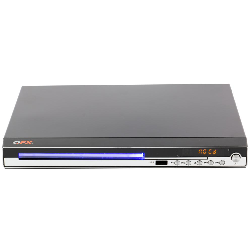 QFX Digital Multi-Media Player for DVD's, CD's, Games and Karaoke with Microphone, Joysticks and Remote Control