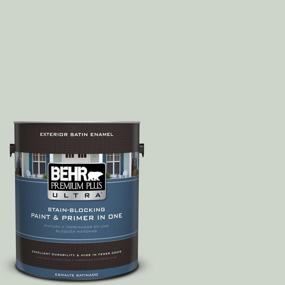 BEHR Premium Plus Ultra 1-gal. #N390-2 Flora Satin Enamel Exterior Paint