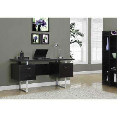 Cappuccino Desk With Drawers