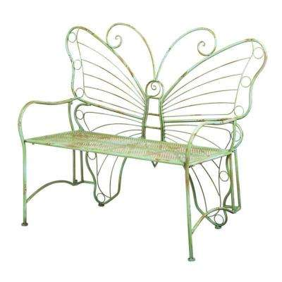 46 in. Verdi Butterly Metal Outdoor Bench