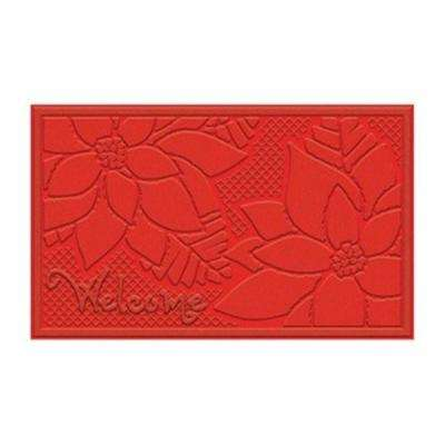 Poinsettia Contemporary 18 in. x 30 in. Impressions Holiday Mat