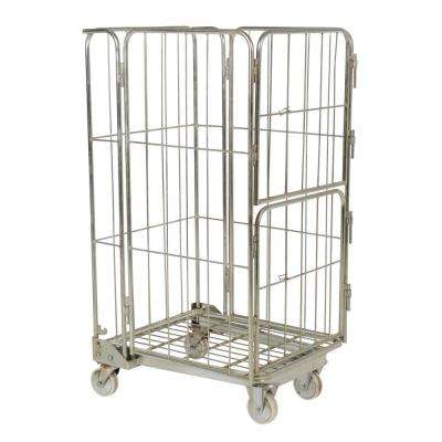 26.375 in. x 59 in. Galvanized Nestable Roller Container