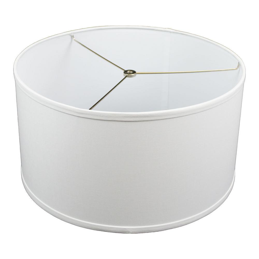 17 in. Top Diameter x 17 in. Bottom Diameter x 9 in. H Linen White Drum Lamp Shade