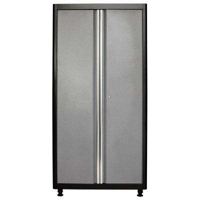 72 in. H x 36 in. W x 18 in. D Welded Steel Floor Freestanding Cabinet in Black/Multi-Granite