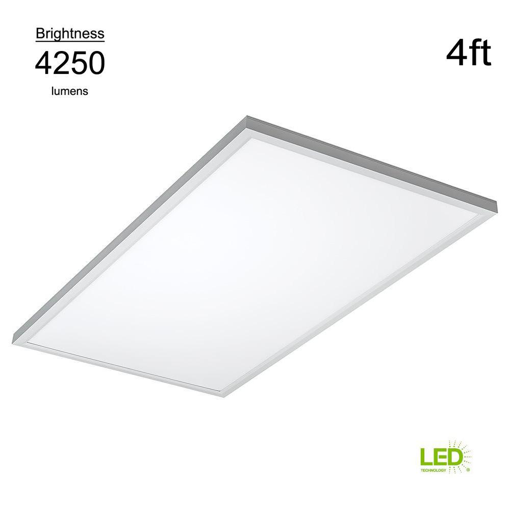 Commercial Drop Ceiling 2 ft. X 4 ft. White 5000K Dimmable