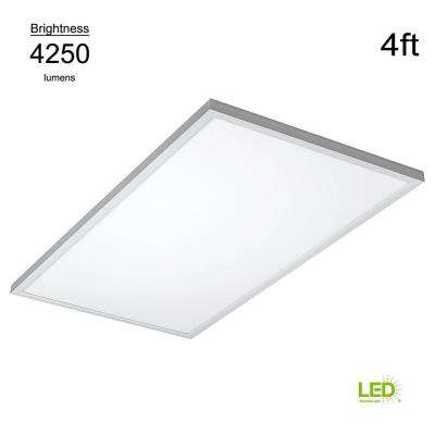 Commercial Drop Ceiling 2 ft. X 4 ft. White 5000K Dimmable Integrated LED Flat Panel Troffer