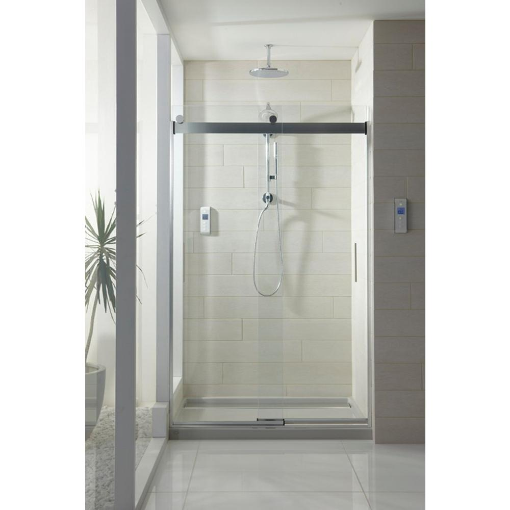 Kohler Levity 48 In X 74 Semi Frameless Sliding Shower Door Silver With Handle