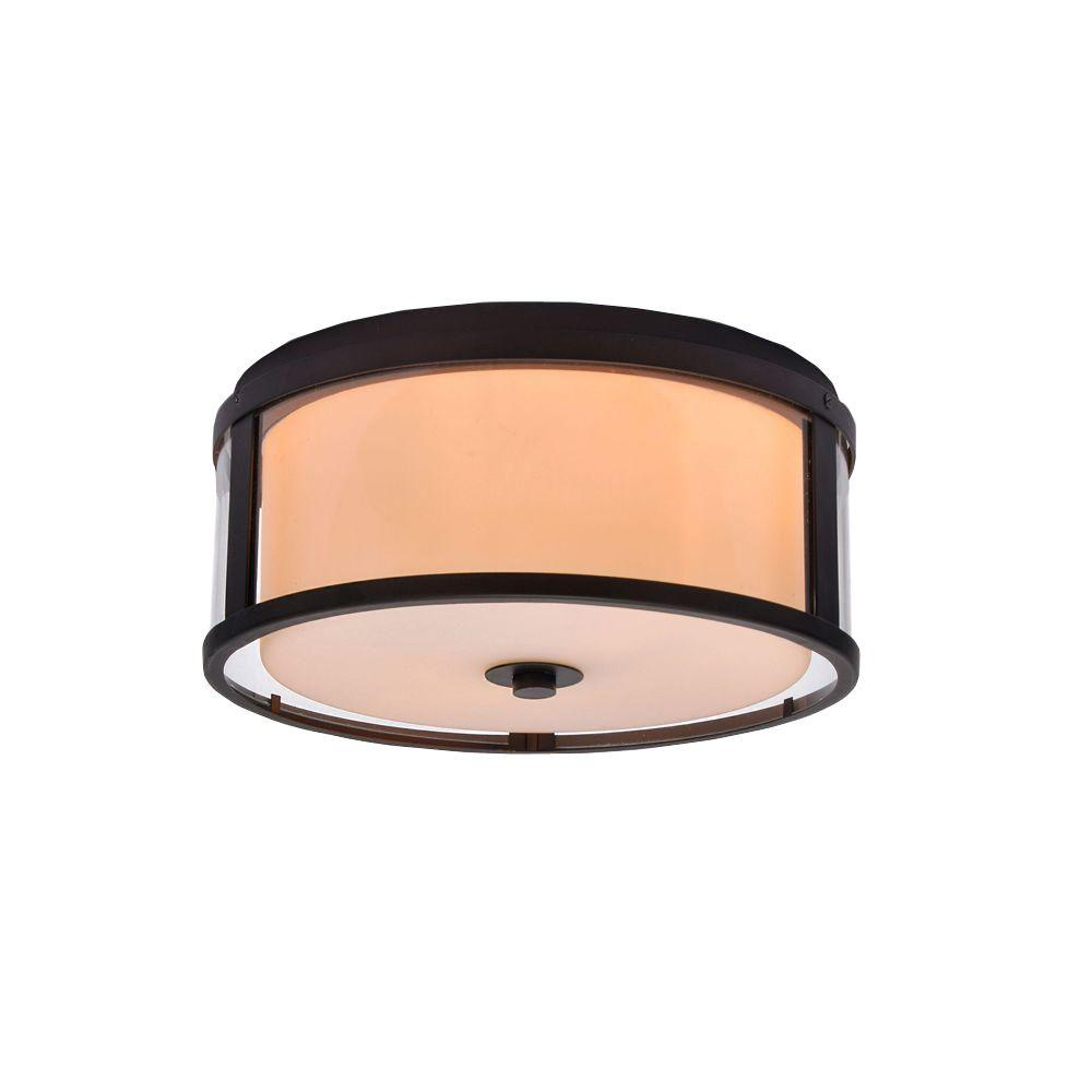 sc 1 st  The Home Depot & Alsy 2-Light Bronze Dual Glass Flushmount-19851-000 - The Home Depot azcodes.com