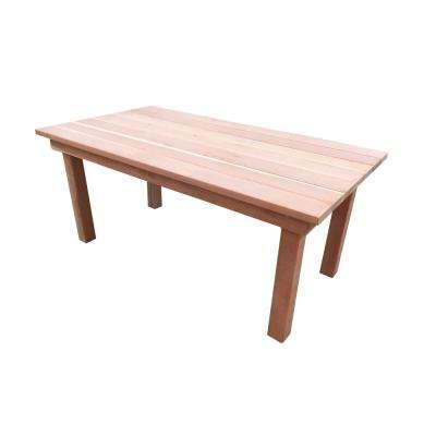 Farmhouse Natural Unfinished 6 ft. Redwood Outdoor Dining Table