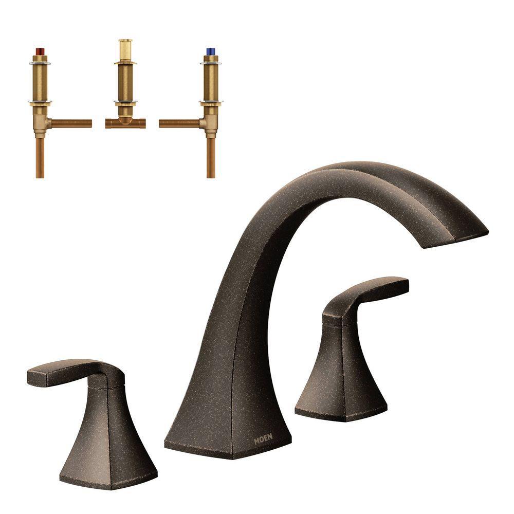 MOEN Voss 2-Handle Deck-Mount High Arc Roman Tub Faucet