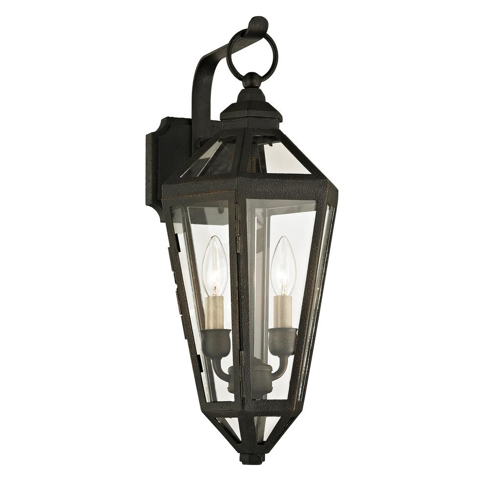 Calabasas 2-Light Vintage Bronze 20.25 in. H Outdoor Wall Mount Sconce