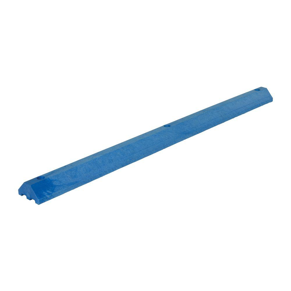 72 in. Recycled Blue Plastic Car Stop