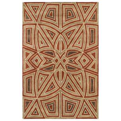 Art Tiles Rust 10 ft. x 13 ft. Area Rug