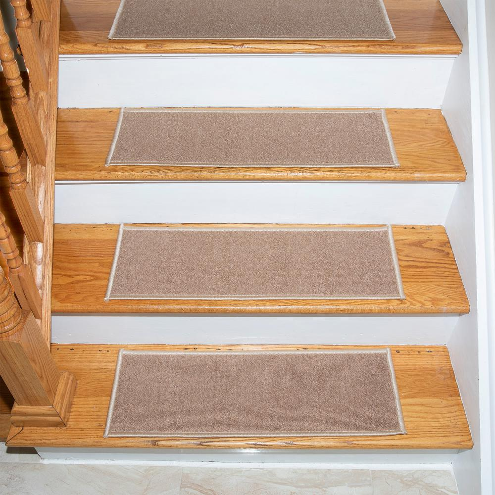 Stair Treads Collection Indoor Skid Slip Resistant Carpet Tread Beige