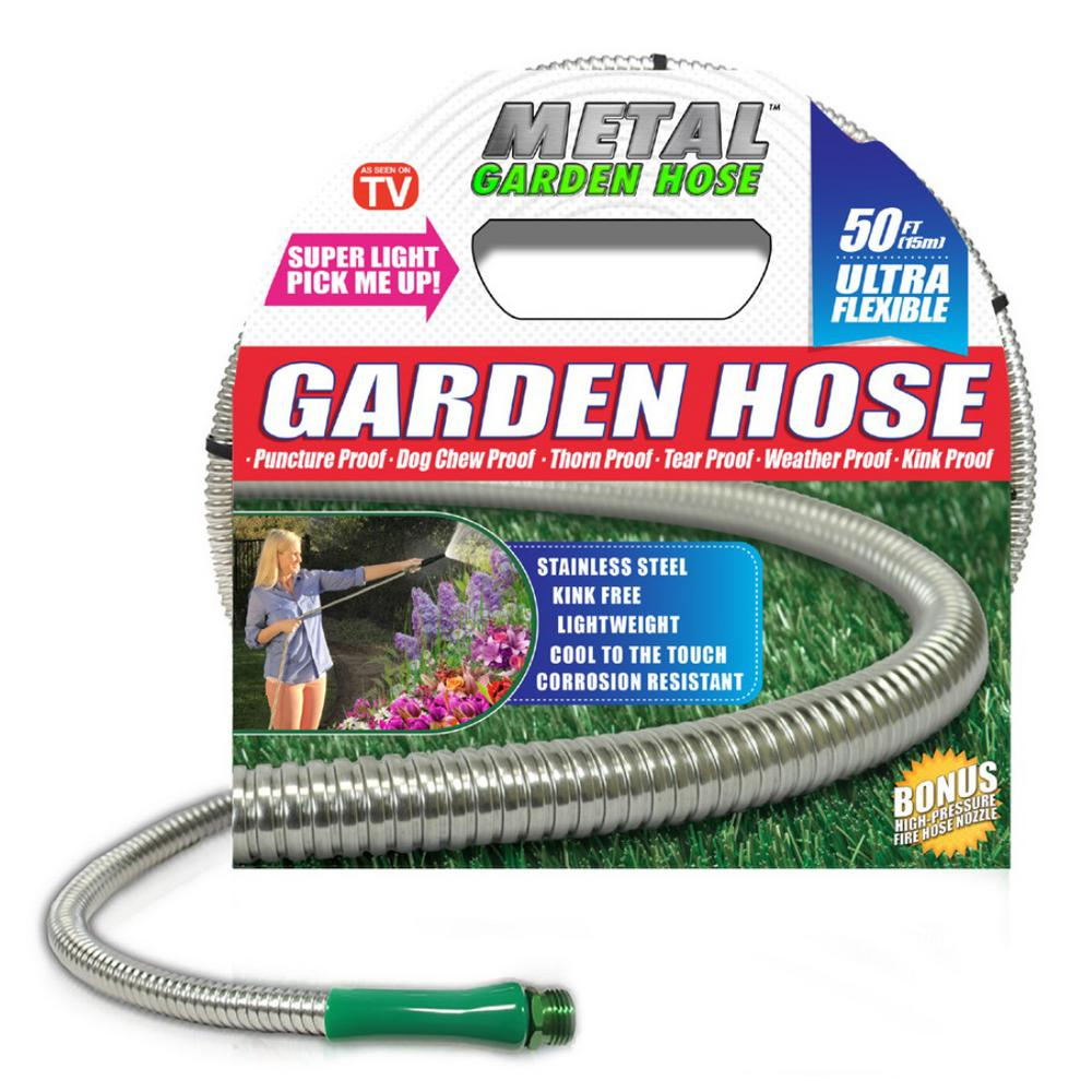 Uncategorized Cool Hoses deluxe 38 in x 50 ft stainless steel metal garden hose 00380 hose