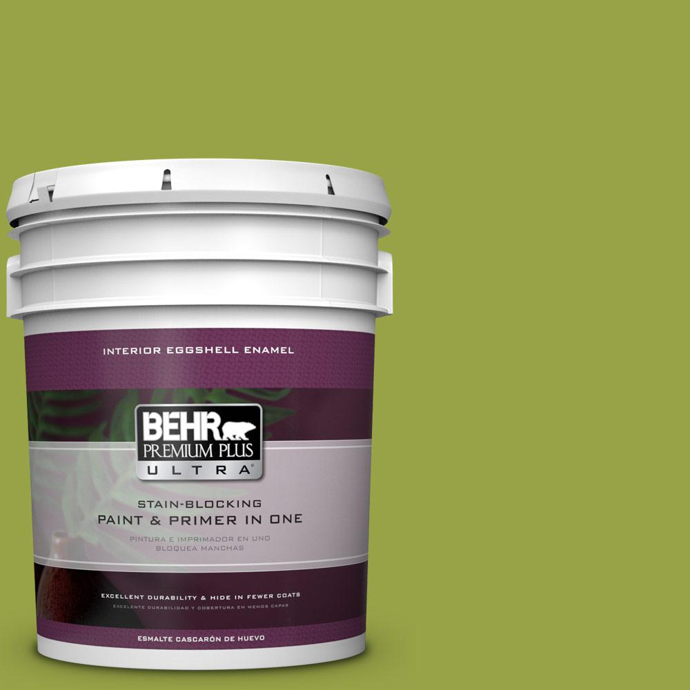 5 gal. #P360-6 Fresh Apple Eggshell Enamel Interior Paint