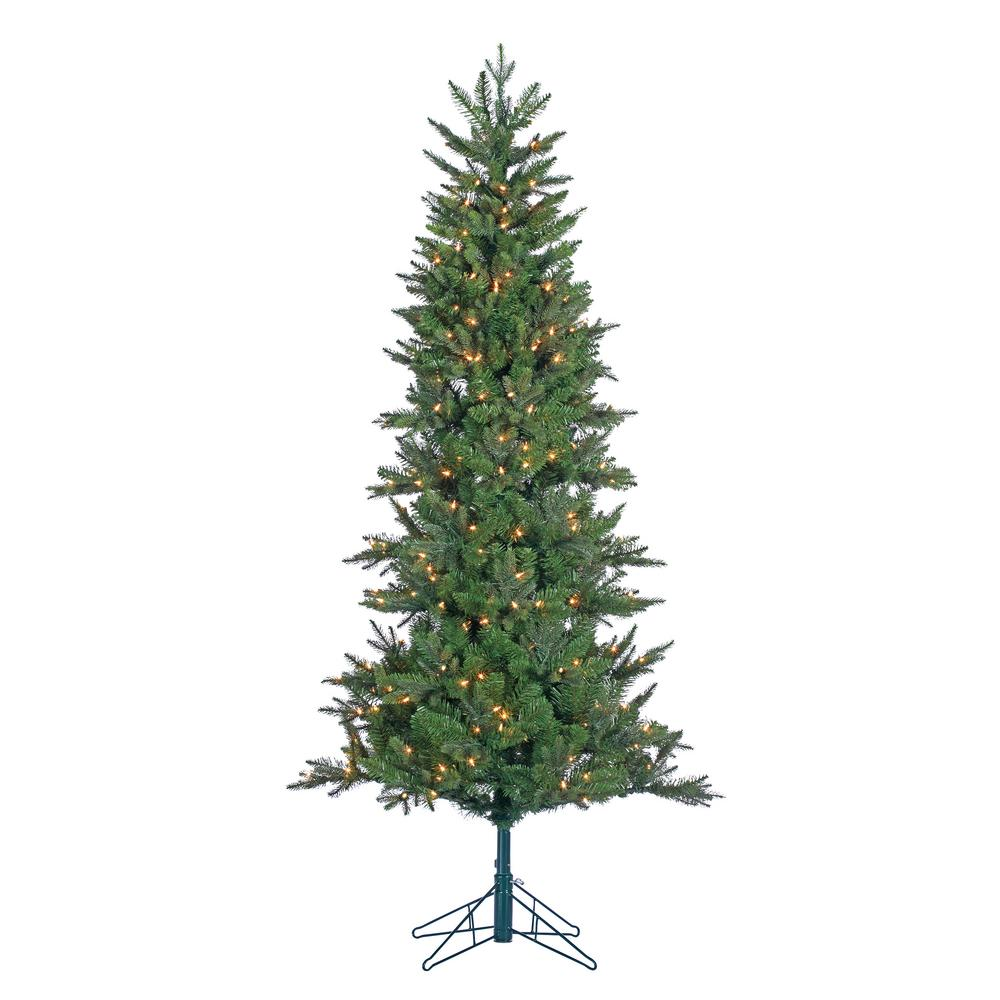 Christmas Artificial Tree: STERLING 6.5 Ft. Pre-Lit Salem Spruce Artificial Christmas
