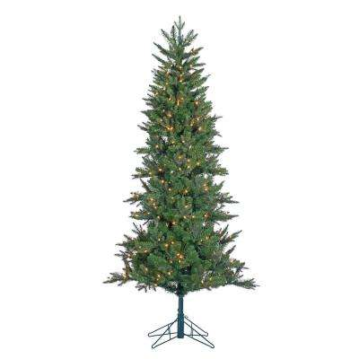 6.5 ft. Pre-Lit Salem Spruce Artificial Christmas Tree with Power Pole