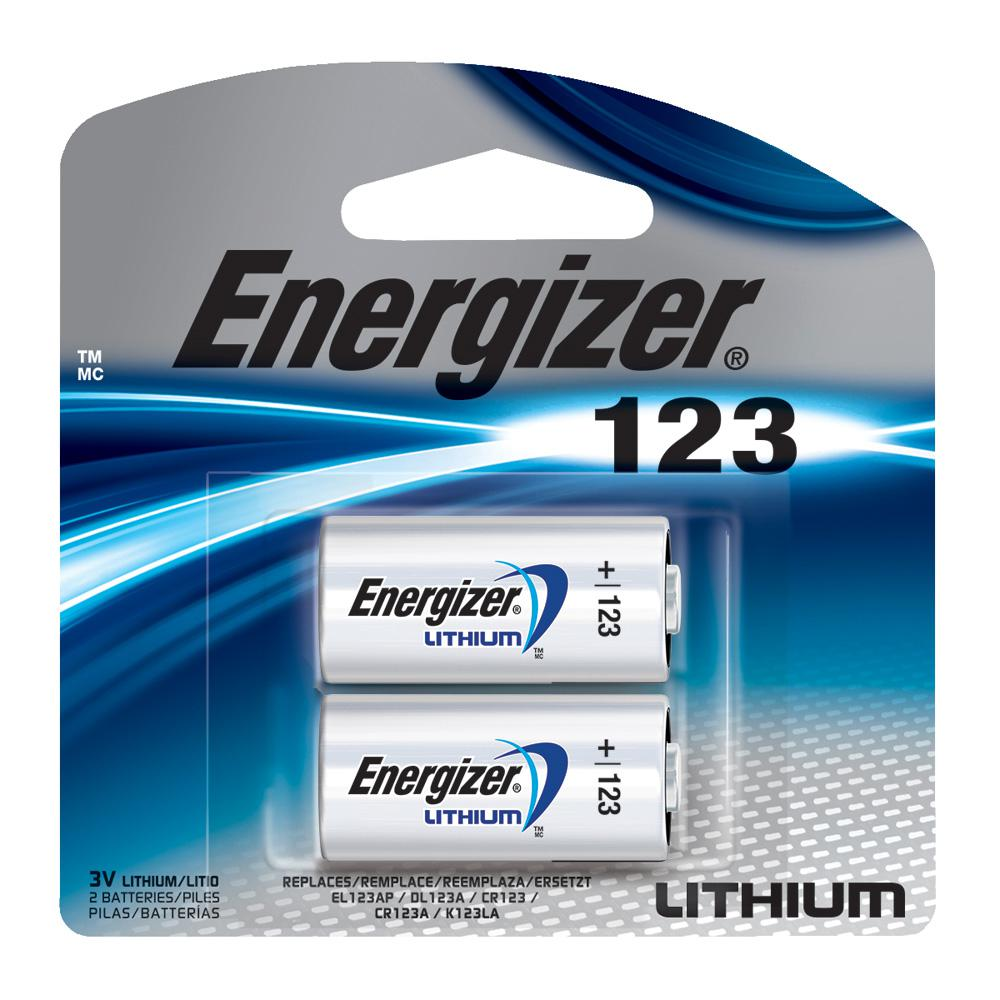 Energizer 123 Lithium Battery 2 Pack El123apb2 The Home Depot