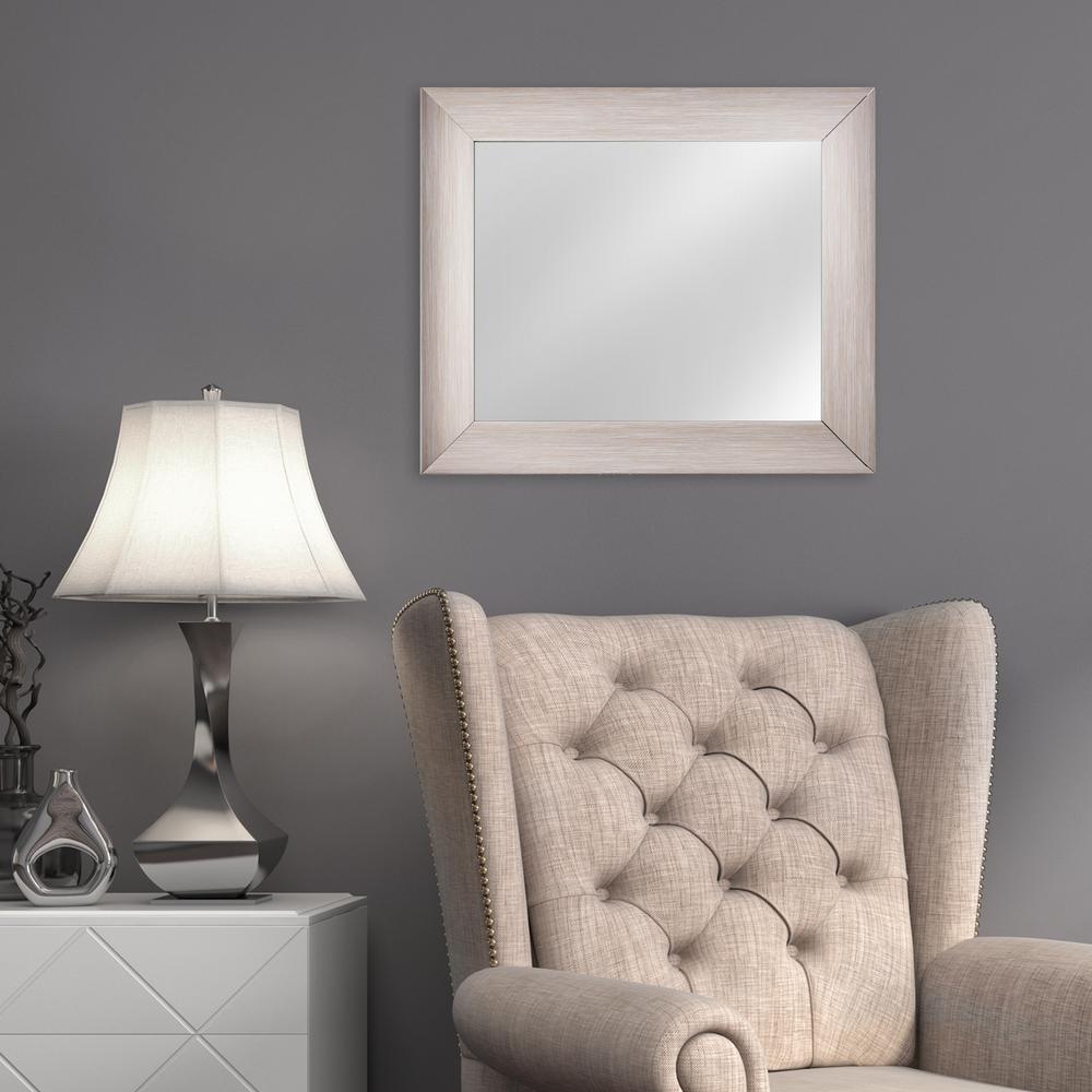 Leighton Rectangular Grey Vanity Mirror