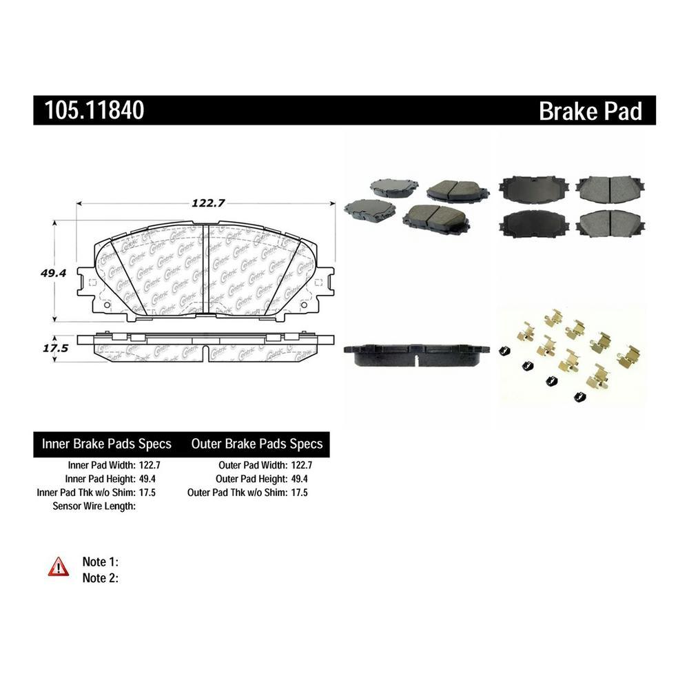 Centric 105.08680 PosiQuiet Ceramic Pads