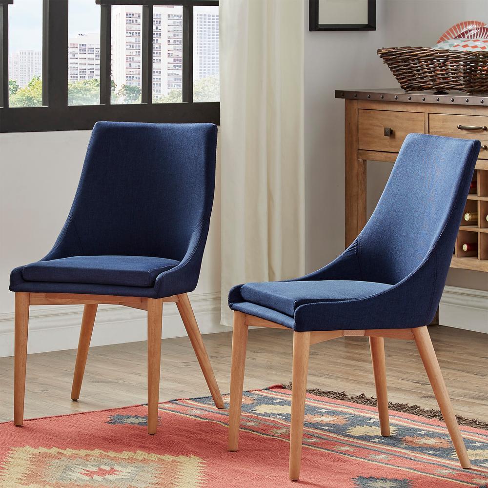 Nobleton Twilight Blue Linen Dining Chair (Set of 2)