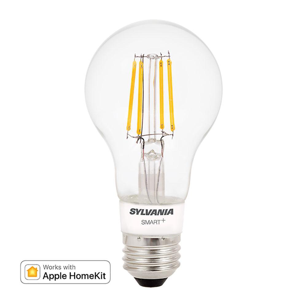 SMART+ Bluetooth 40-Watt Equivalent A19 Dimmable Filament LED Light Bulb Soft White (2-Pack)