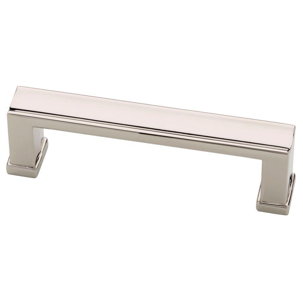 home depot kitchen cabinet pulls martha stewart living 3 in 76mm polished nickel channel 16445