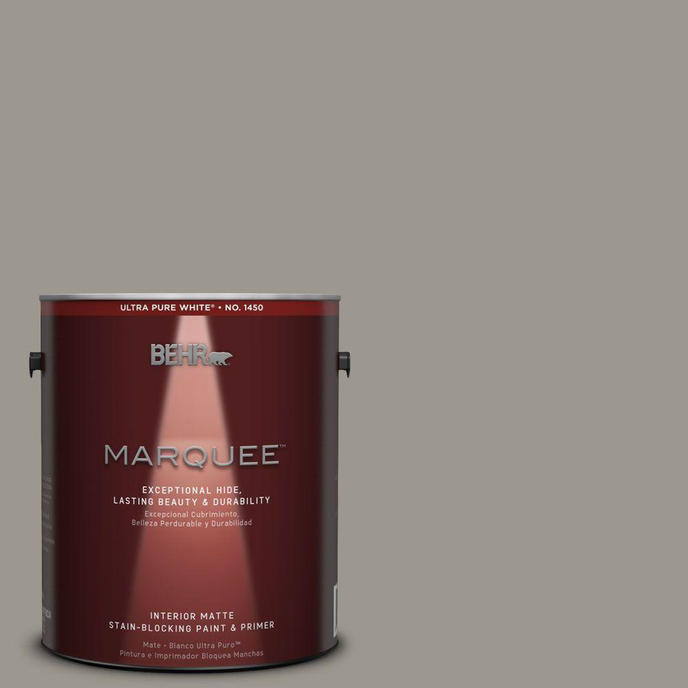 1 gal. #MQ2-60 Iron Gate Matte One-Coat Hide Interior Paint and