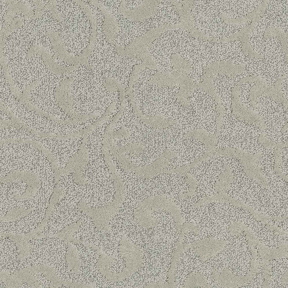 Lifeproof Swirling Vines Color Deep Linen Pattern 12 Ft