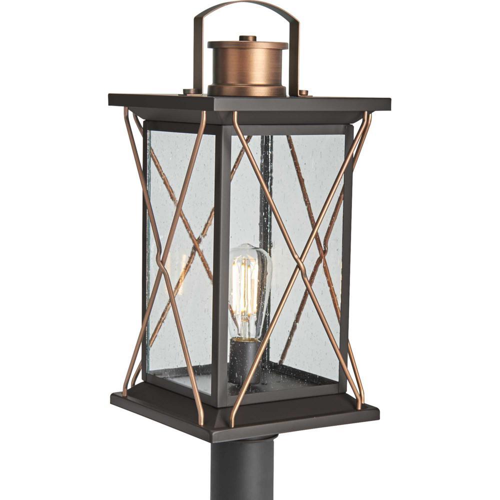 Barlowe 1-Light Antique Bronze 4x4 Deck Post Light Post Lantern