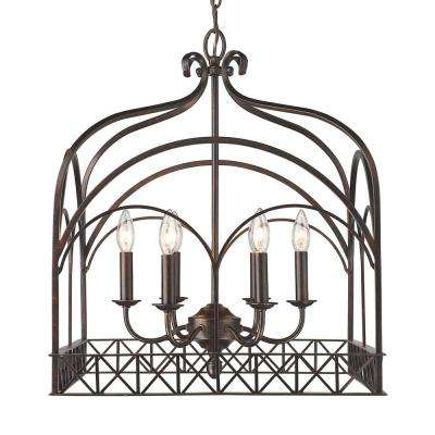 Gateway 6-Light Fired Bronze Chandelier