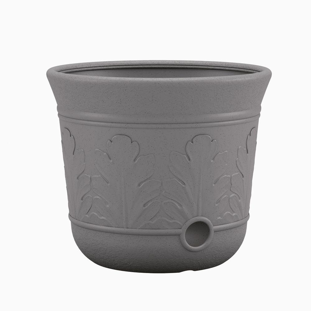 Suncast grey resin hose pot cplhpl100 the home depot - Home depot water container ...