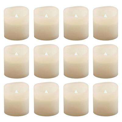 1.5 in. Warm White Votive LED Candle (Set of 12)