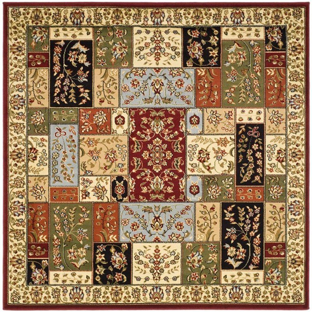 safavieh lyndhurst multi ivory 10 ft x 10 ft square area rug lnh318a 10sq the home depot. Black Bedroom Furniture Sets. Home Design Ideas