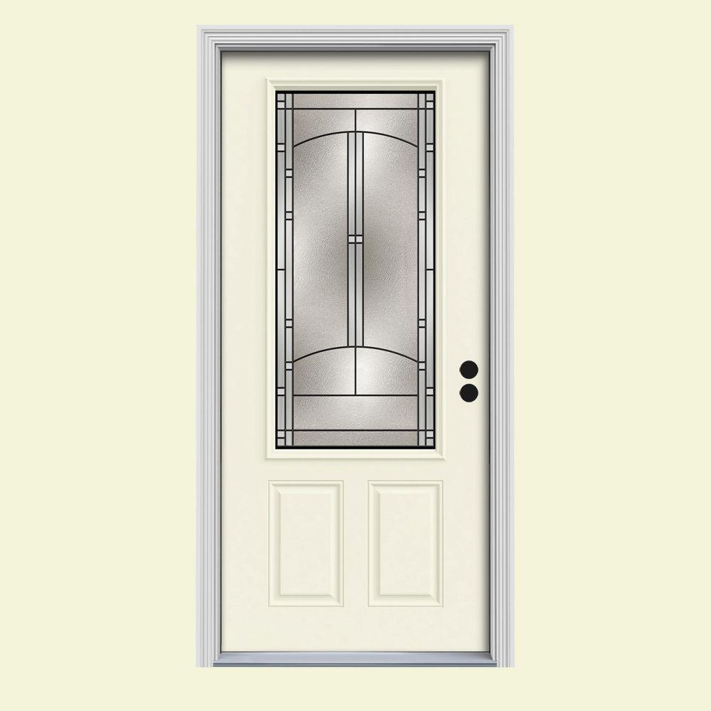 Jeld wen 32 in x 80 in 3 4 lite idlewild vanilla painted for Outswing french doors home depot