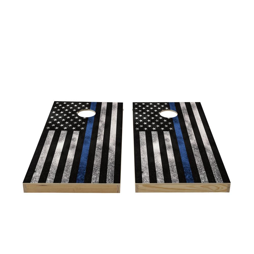 Service Flag Wood Cornhole Set