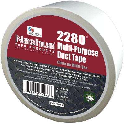 2.83 in. x 60.1 yds. 2280 Multi-Purpose Duct Tape in White
