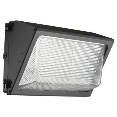 Contractor Select TWR 250-Watt Equivalent 6200 Adjustable Lumens Dark Bronze Wall Pack Light 4000K