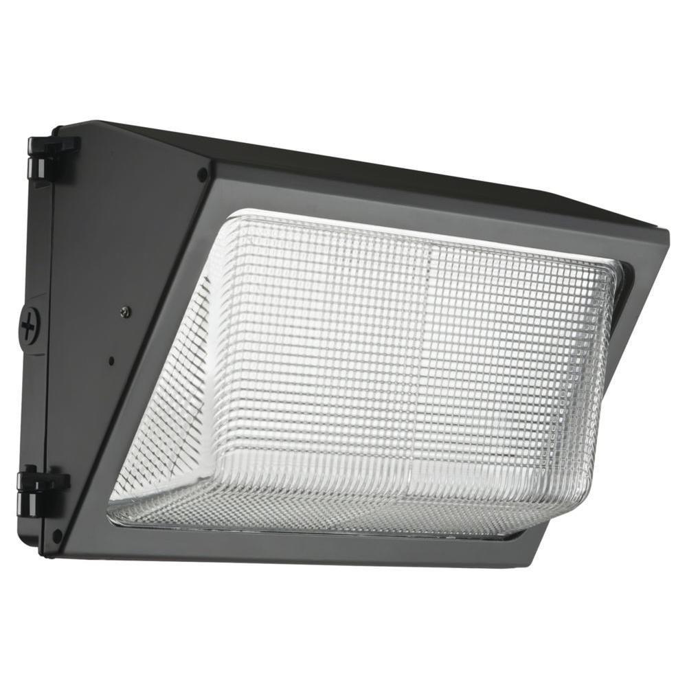 Contractor Select TWR 250-Watt Equivalent 6200 Adjustable Lumens Dark Bronze Wall Pack Light 5000K