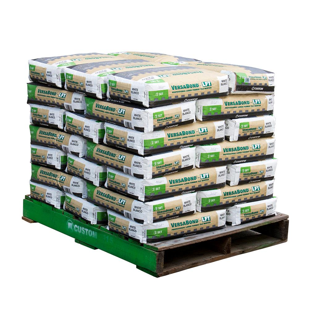 Custom Building Products VersaBond-LFT 50 lbs. White Fortified Medium Bed Mortar (35 Bags / 3325 sq. ft. / Pallet)