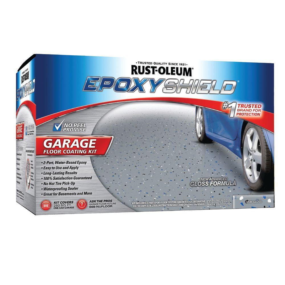 Rust-Oleum Epoxy Shield Garage 1-gal. Gloss Gray Floor Coating Kit-DISCONTINUED